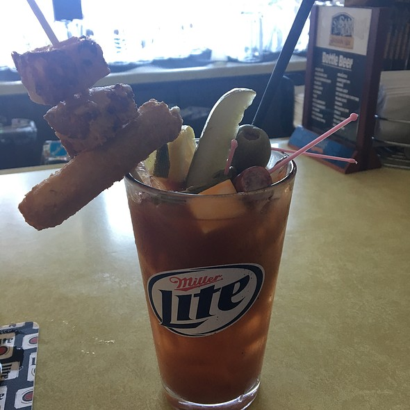 Extra Cheezy Bloody Mary @ AJ's Bar & Grill