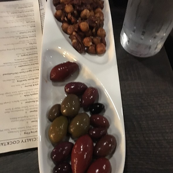 Fried Nuts & House Marinated Olives @ Bistro Z