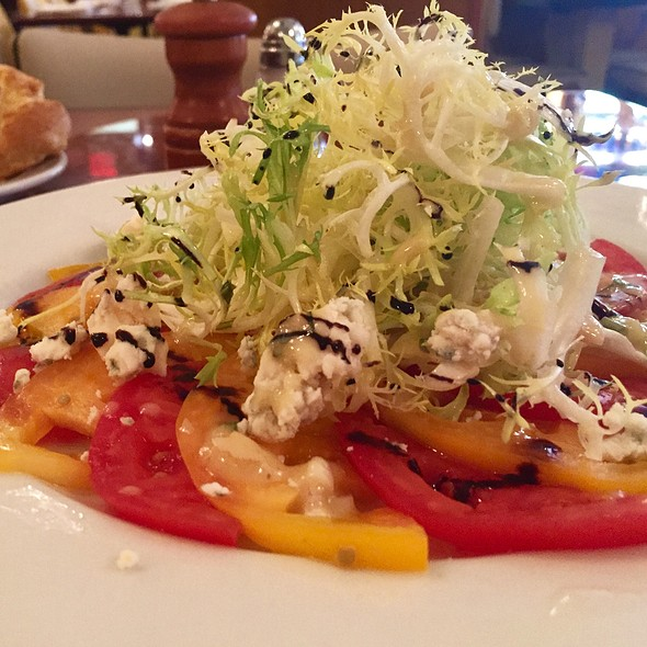 Red & Yellow Tomato Salad - Cafe d'Alsace, New York, NY