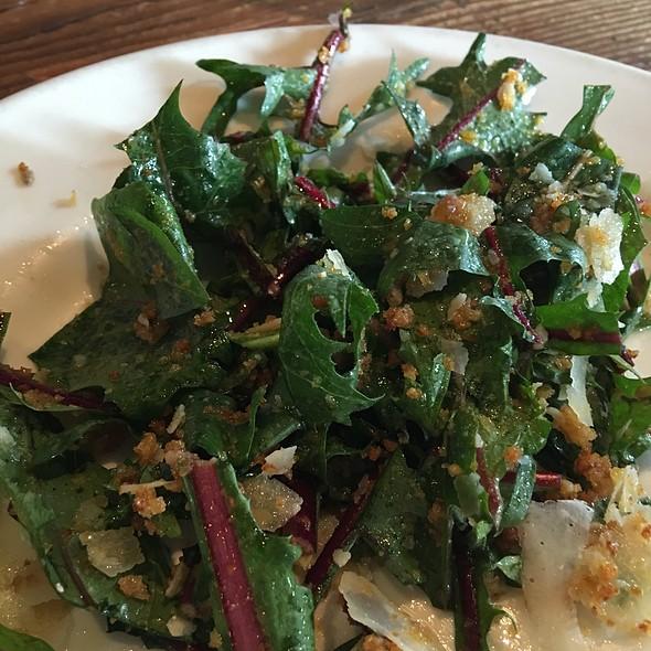 Dandelion Anchovy Parmesian Salad