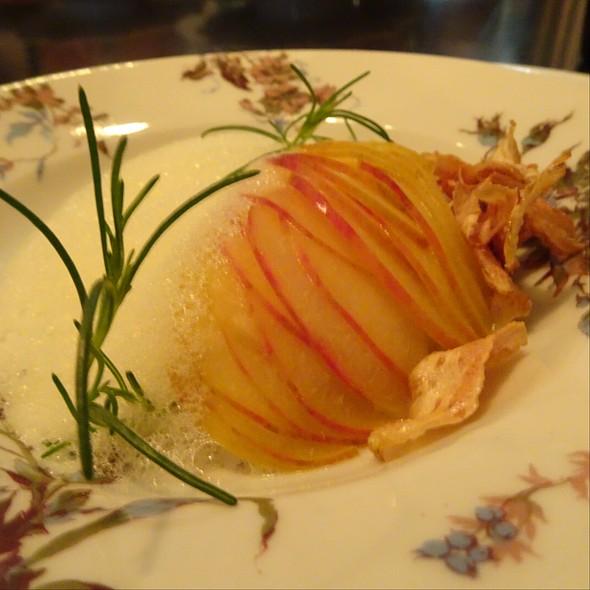Plum, Red Bream, Agretti & Artichokes @ Maude Restaurant