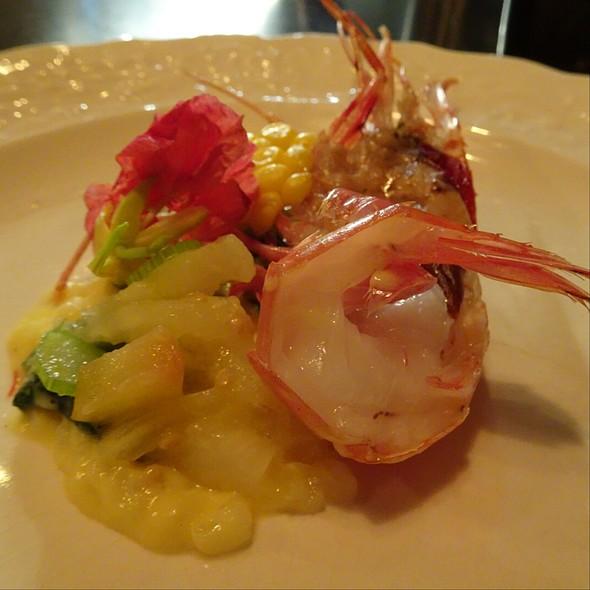 Plum, Risotto, Spot Prawn, Okra, Corn @ Maude Restaurant