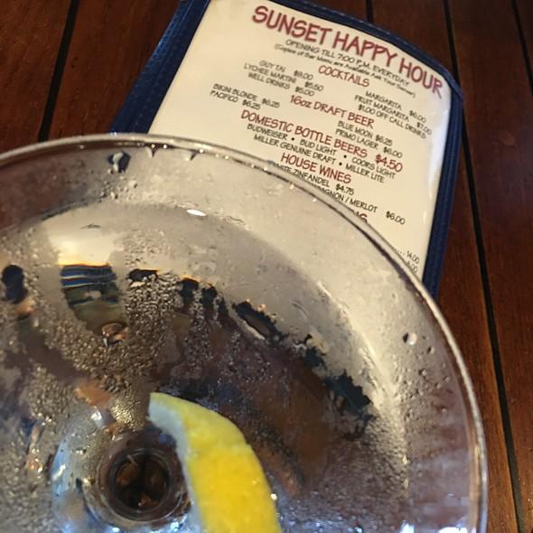 Tito's Martini w/a Twist @ Chart House Waikiki