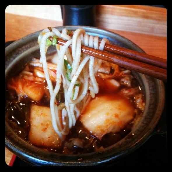 Pork Kimchi Dip Soba Noodles @ Cocoron