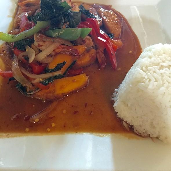 Wok-Fried Prawns With Mango And Basil Chilli Sauce - Soi4 Bangkok Eatery - Scottsdale, Scottsdale, AZ
