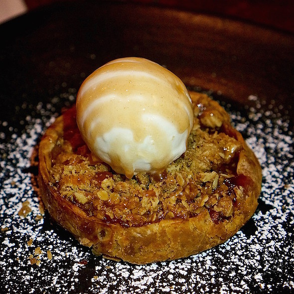 Summer peach pie, sour cream ice cream - Wood Tavern, Oakland, CA