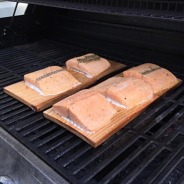 Cedar Plank Salmon @ Middle Of Nowhere :)