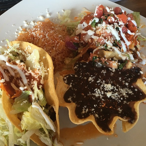 Sope & Taco Combo Plate With Black Beans & Rice @ Los Agaves Restaurant