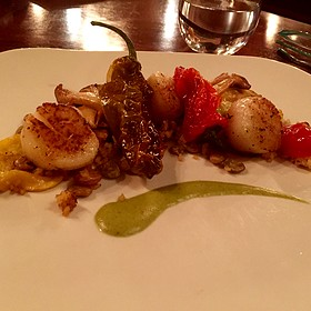 Seared Scallops Wild Mushrooms - Epiphany Farm-to-Fork, Tuscaloosa, AL