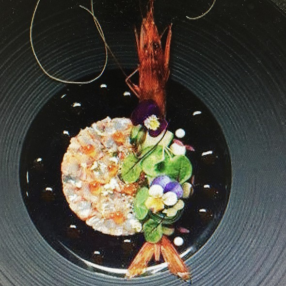 Shrimp Carpaccio @ Woodside Restaurant @ Parkyard Hotel Shanghai
