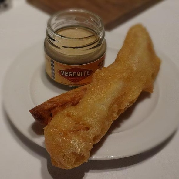 Fish and Chips with Vegemite Sauce @ Salt, Tokyo by Luke Mangan