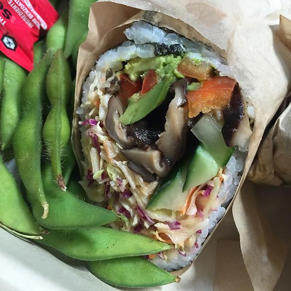 Avocado Mushroom Burrito @ Bento Box