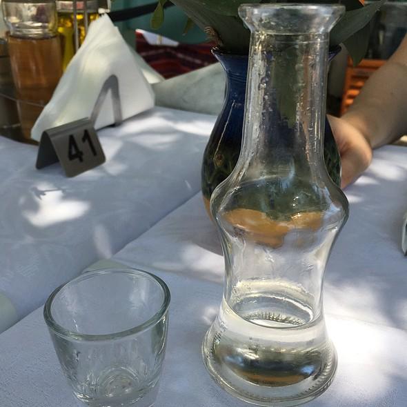 raki @ Platanos Traditional Cretan Cusine