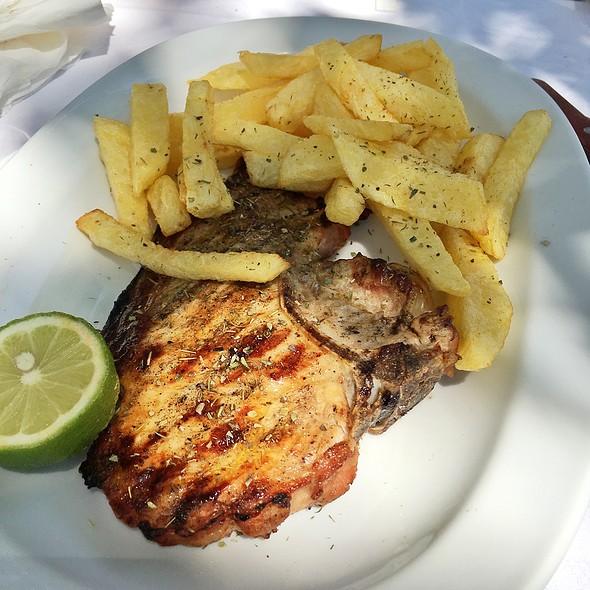 Pork Steak @ Platanos Traditional Cretan Cusine