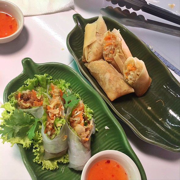 Spring Rolls @ Thai orchid cookery school