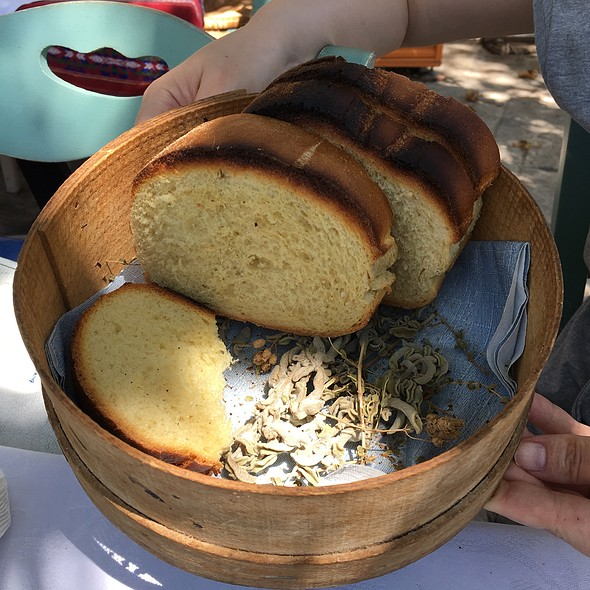 Traditional Cretan Bread @ Platanos Traditional Cretan Cusine