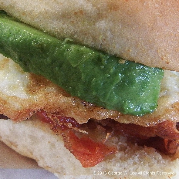 Bacon Avocado Tomato Jam Egg Sandwich