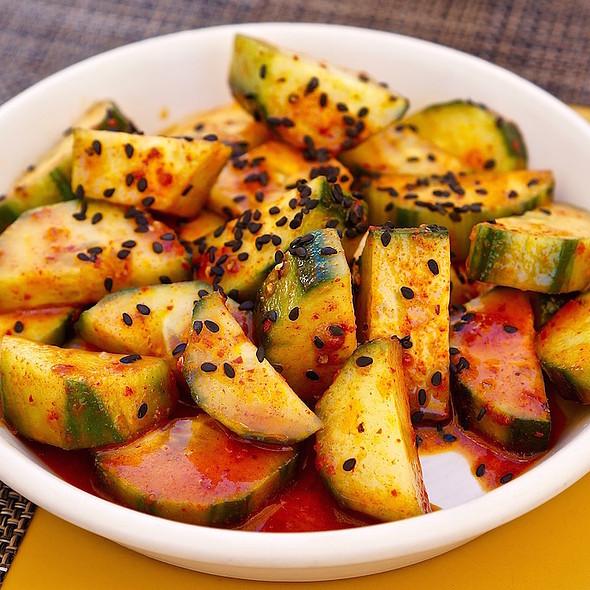 Korean chili oil marinated cucumbers @ Sam's Social Club
