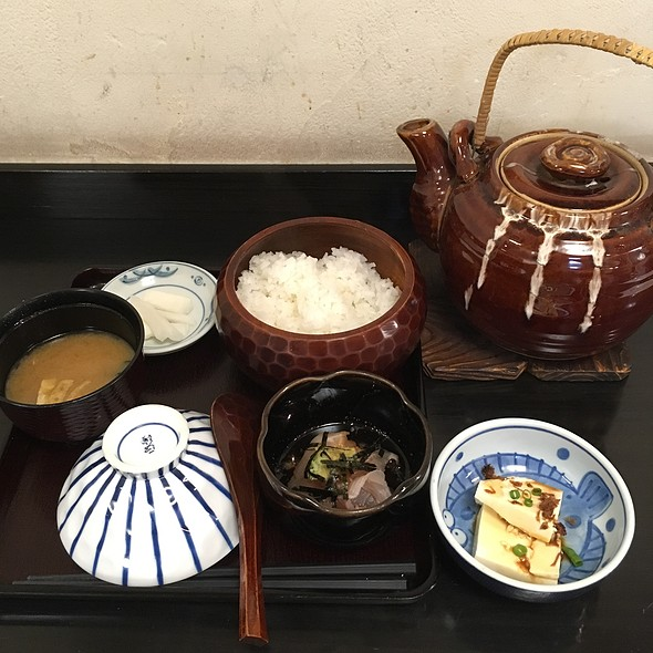 鯛茶漬け @ 築地錦水 大手町