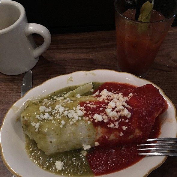 Red And Green Burrito With Corned Beef Hash