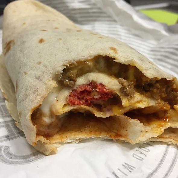 Cheesy core burrito