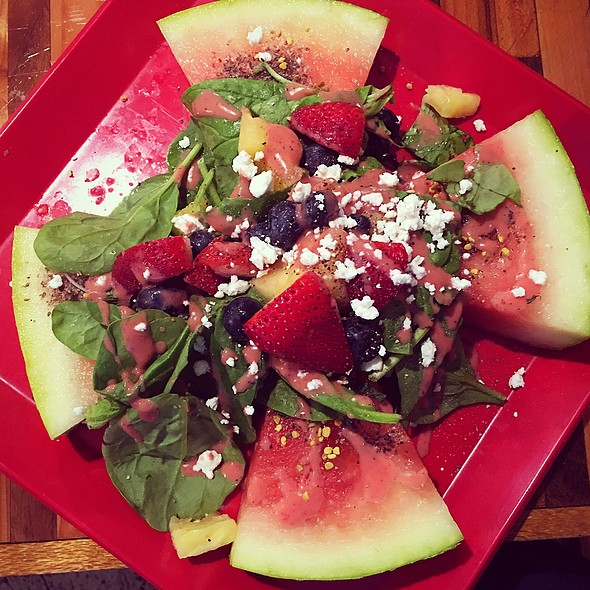 Watermelon Salad @ Hiblend Health Bar & Cafe