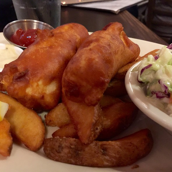 Fish and Chips @ The Black Marlin Bar & Seafood Grill
