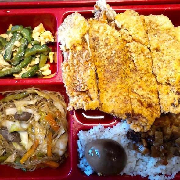 Jumbo Chicken Steak Bento @ Tea Rock Cafe