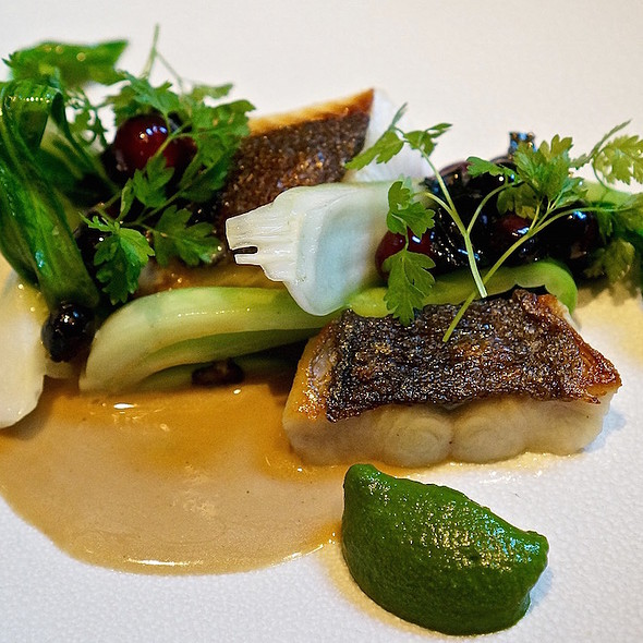 Black cod, bok choy, huckleberry, mushroom beurre