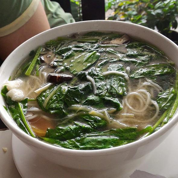 Fish and Vegetable Noodle Soup @ Mien-San Noodle House