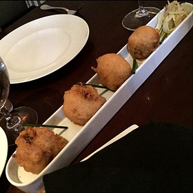 Crab Beignets With Remoulade - Restaurant R'evolution, New Orleans, LA