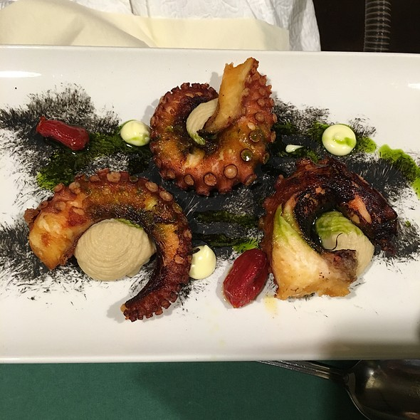 Crispy Octopus With Bean Cream