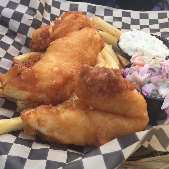 Halibut Fish and Chips @ Rogue Ales Public House