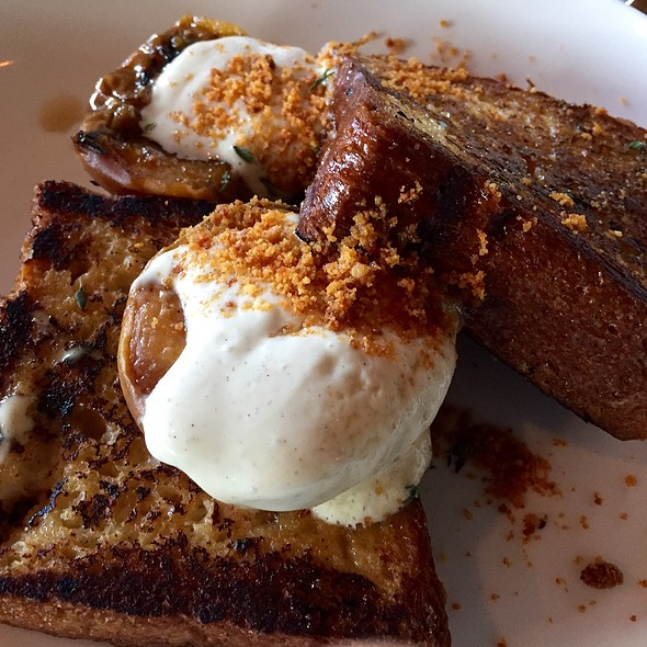 Brioche French Toast With Peach Agrodolce @ The Promontory