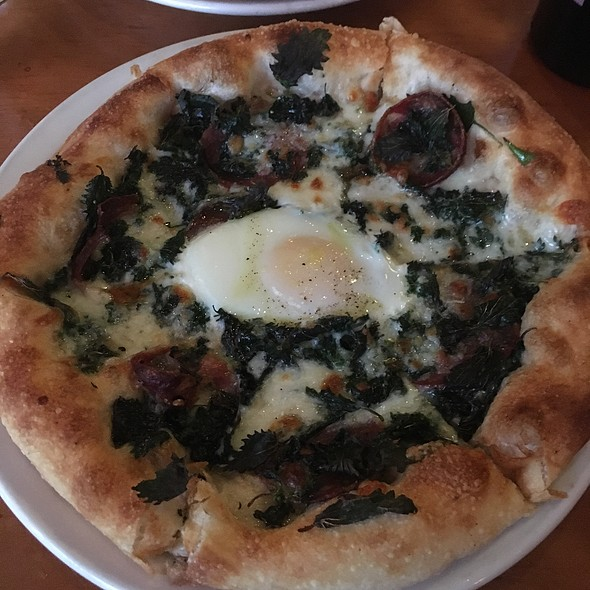 Stinging Nettles & Finocchiona Salame Pizza