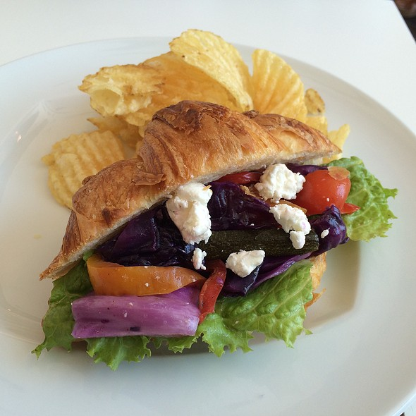Baked Vegetable and Goat Cheese Sandwich