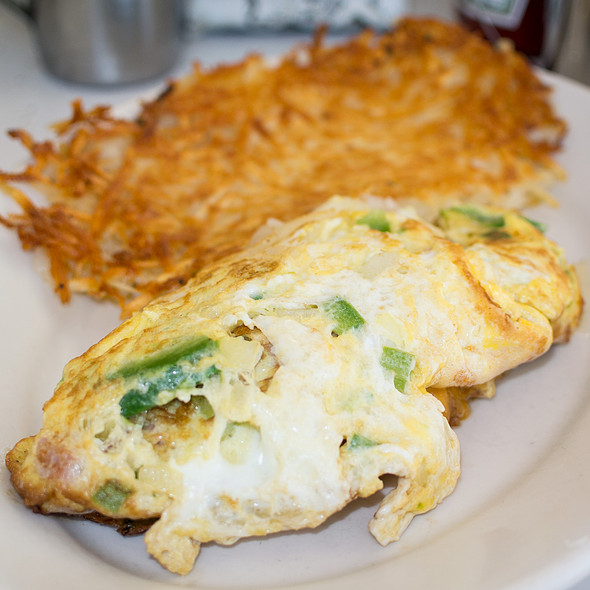 Denver omelette and hash browns