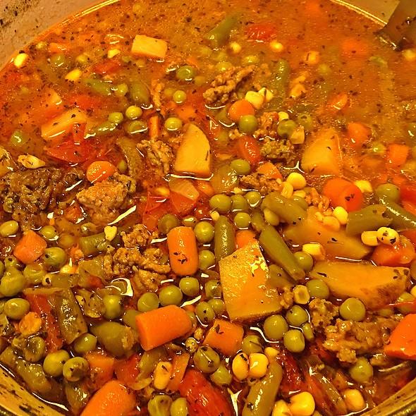 Homemade Veggie Beef Soup @ Casa Olive