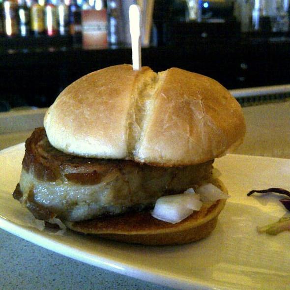 Bacon-Wrapped Meatloaf Slider @ Analog Bar