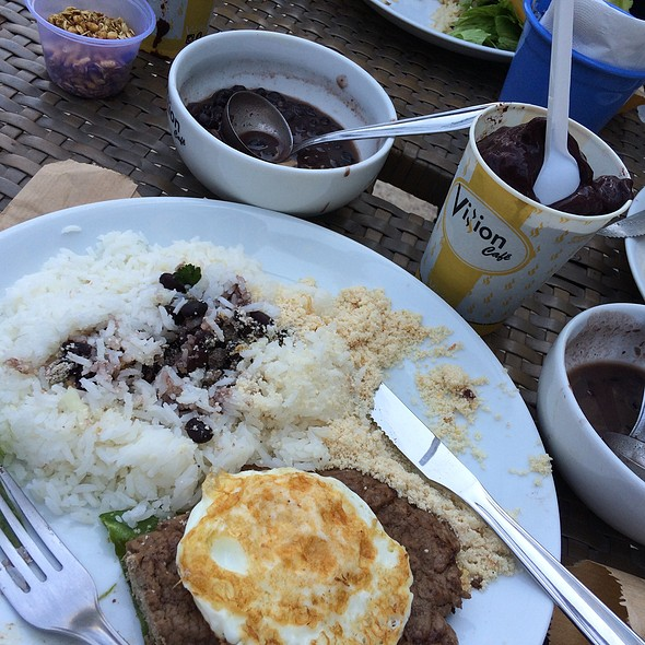 Steak With Rice And Beans, Eggs