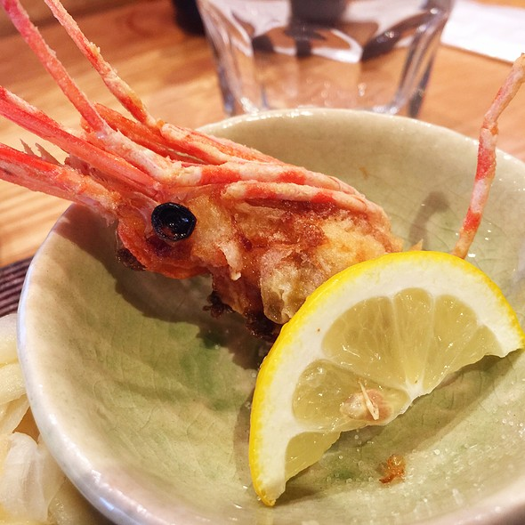 Fried Head Of Spotted Shrimp @ Blue Ribbon Sushi