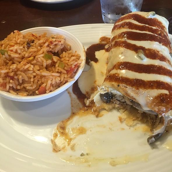 Chicken Chili Rojo Burrito @ Tuco's Tex Mex Cantina