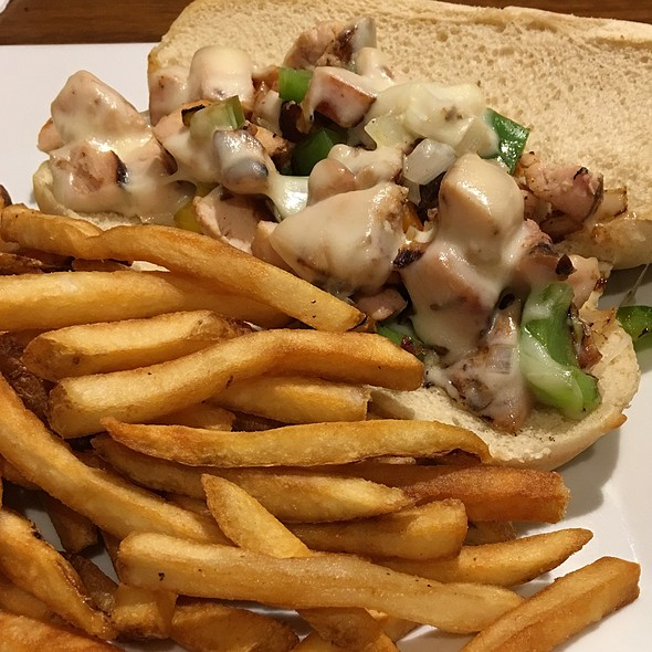 Philly Sandwich With Smoked Chicken @ Northwoods Family Grille