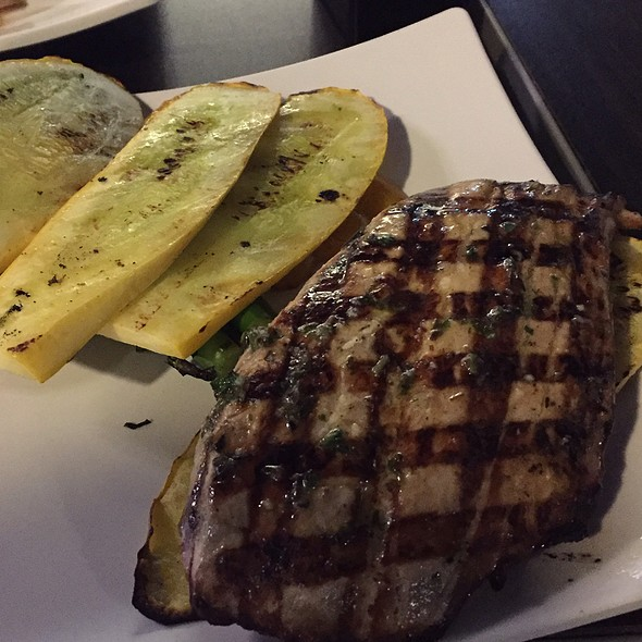 Grilled Yellowtail With Garlic & Herbs @ Sabra Fish Grill
