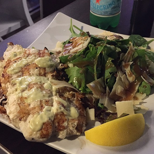 Lime Aioli Grilled Halibut @ Sabra Fish Grill