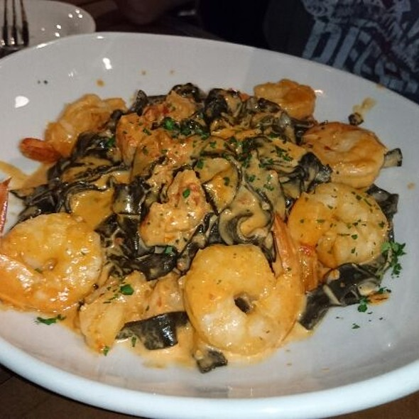 Black Squid Ink Pasta With Shrimp