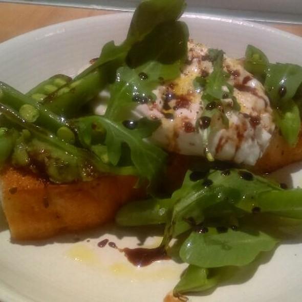 Burrata, English Peas, Toast @ Shaker & Spear
