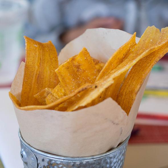 Fried Plantain Chips With Line Zest And Salt @ La Mar Cebicheria Peruana