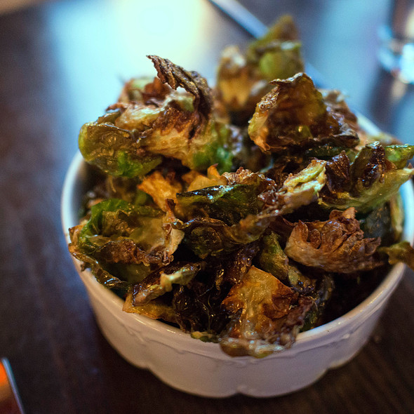 Crispy Brussel Sprout Chips @ The Cavalier