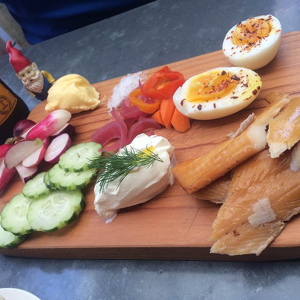 Smoked Trout Board @ Bartavelle Coffee and Wine Bar
